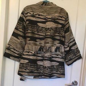 H&M Jackets & Coats - H&M Textured Weave Pattern Jacket Khaki Black S